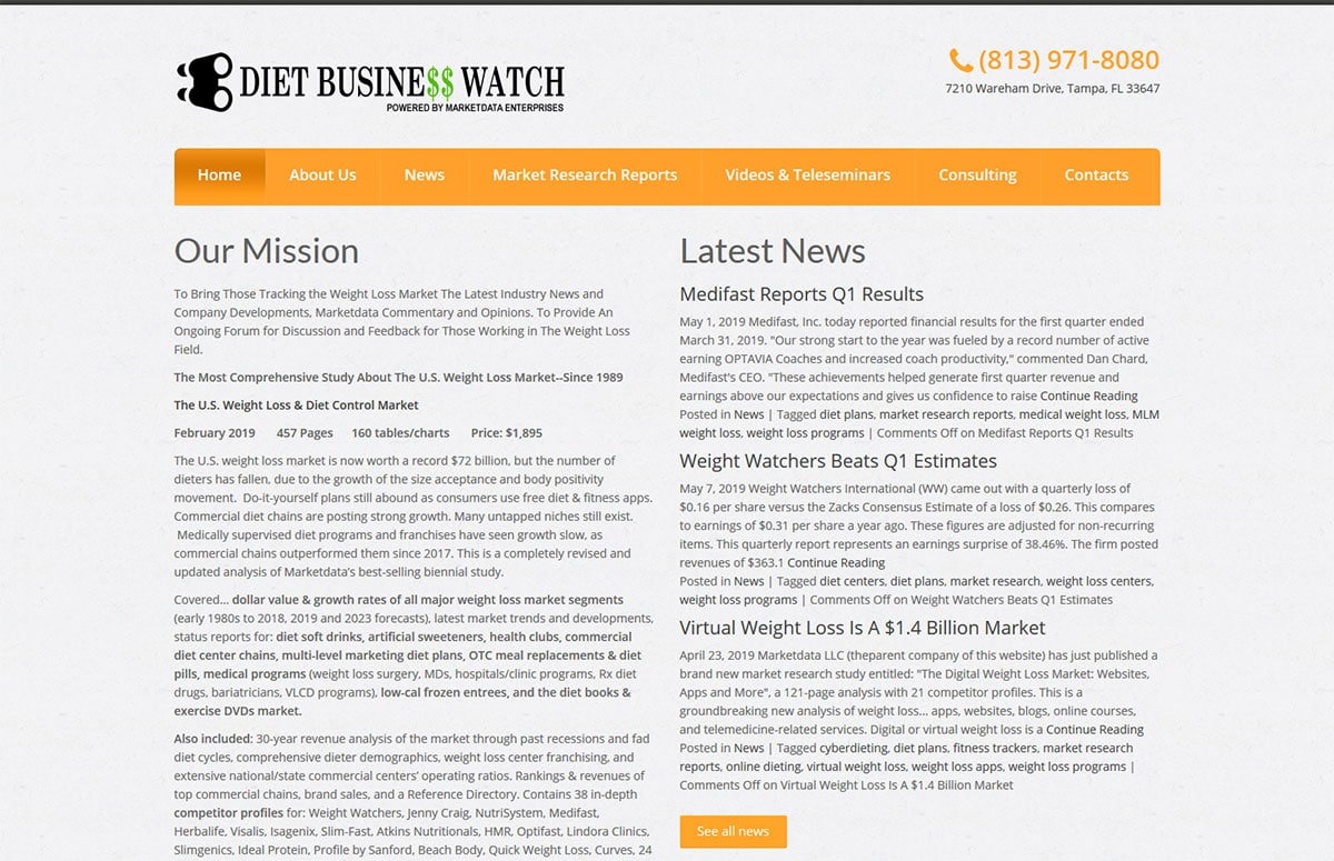 Diet Business Watch