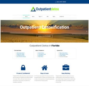 California web design and website development for a medical company Outpatient Detox Florida