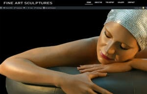 website designer developer for fineart sculpture companies