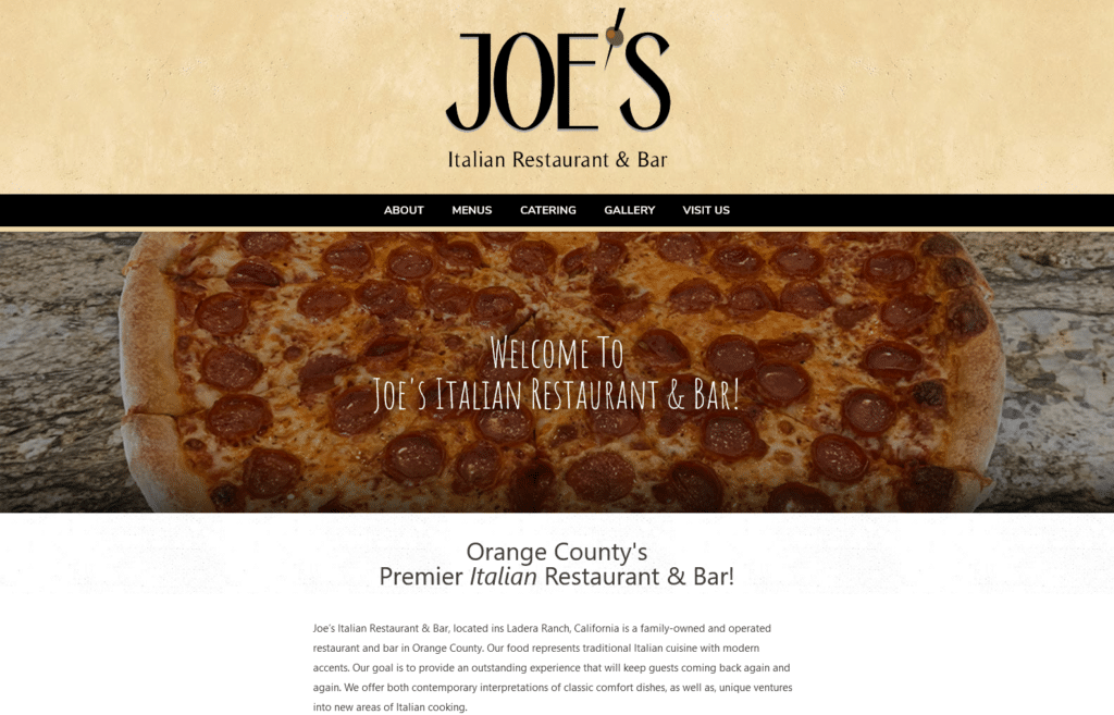 Joe's Italian Restaurant & Bar